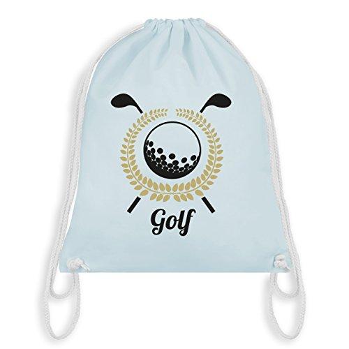 Golf - Lorbeerkanz Golfschläger Golfball - Unisize - Pastell Blau - WM110 - Turnbeutel & Gym Bag