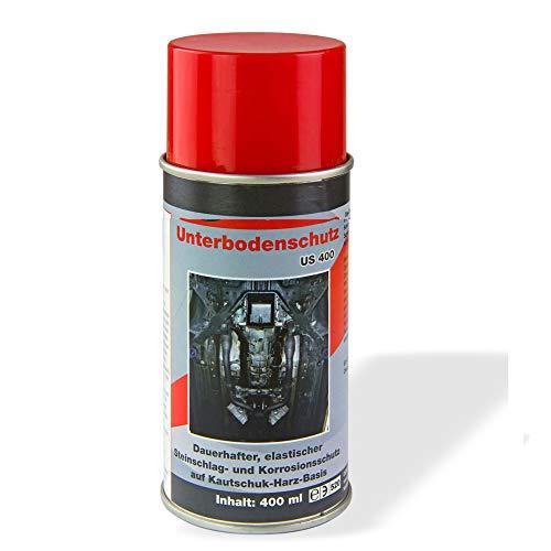TronicXL Unterbodenschutz Spray 2 Stück 400 ml Unterboden Schutz für Auto LKW Roller Motorrad Wohnwagen Wohnmobil Traktor Oldtimer PKW KFZ Pflege Pflegemittel