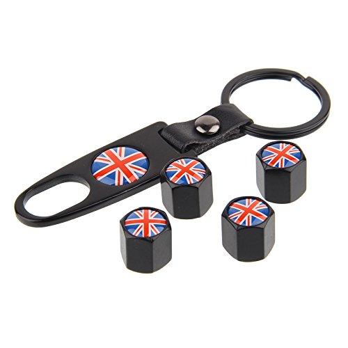 porte-cl/és Bouchons de valve set UK SW Noir