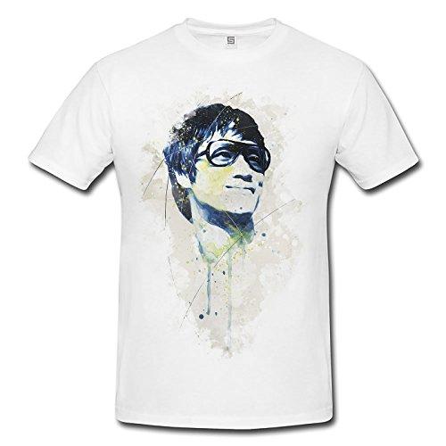Bruce Lee I Premium Motiv aus Paul Sinus Aquarell - Herren Shirt weiss