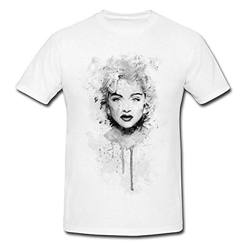 Madonna T-Shirt Herren, Men mit stylischen Motiv von Paul Sinus (Madonna T-shirt Tee)