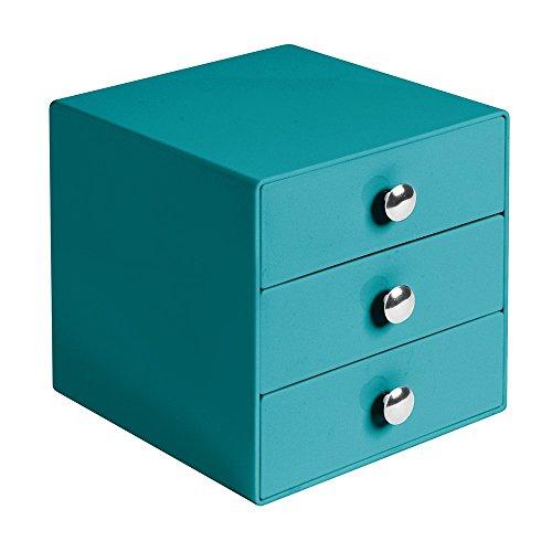 interdesign-teal-organizer-schubladenbox-3-ausziehbare-facher-165-x-165-x-165-cm-kunststoff-fur-kosm