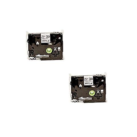Prestige Cartridge TZFA4 / TZeFA4 Lot de 2 Rubans d'étiqueteuse pour Imprimante Brother P-Touch 18 mm x 3 m Bleu sur