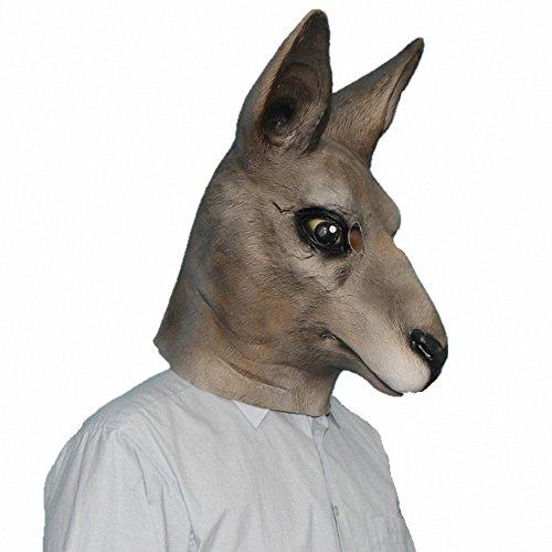 Känguru Kostüm Halloween - Queenshiny® Latex Tiermaske Halloween-Party-Kostüm (Känguru)