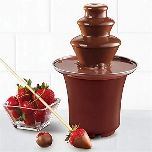 YPSMLYY Schokoladenfondue Elektrische Brunnen 3-Schicht-Schmelzmaschine Party Schokoladenbrunnen Hochzeitsrestaurant Hotel Aus Edelstahl Material 1 5-2 £ Kapazität