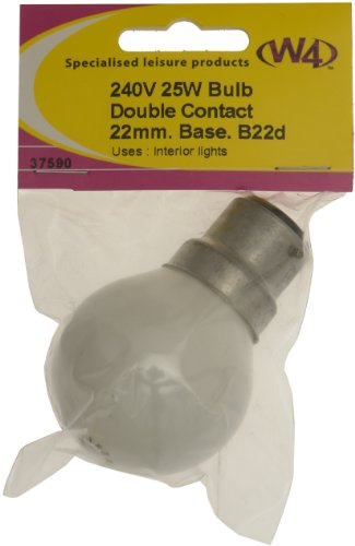 W4 240V 25W Globe Bulb – Off-White
