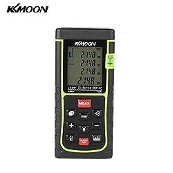 KKmoon RZE-4040m (131 Fuß) Laser-Entfernungsmesser Distance, für Entfernungen, Flächen, Volumen, mit Wasserwaage