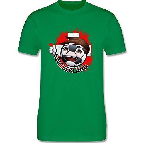 EM 2016 - Frankreich - Fußballjunge Schweiz - Herren Premium T-Shirt Grün