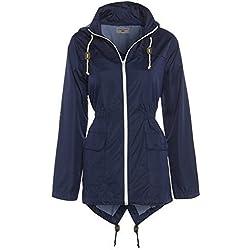 SS7 - Abrigo impermeable - Parka - para mujer azul azul marino 44