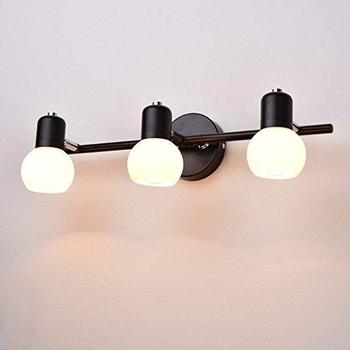 Scofeifei Lámpara de Pared American Retro LED Espejo lámpara aparador Maquillaje Espejo...