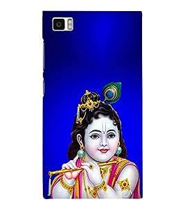 PrintVisa Lord Bal Krishna Kanha 3D Hard Polycarbonate Designer Back Case Cover for Xiaomi Redmi Mi3