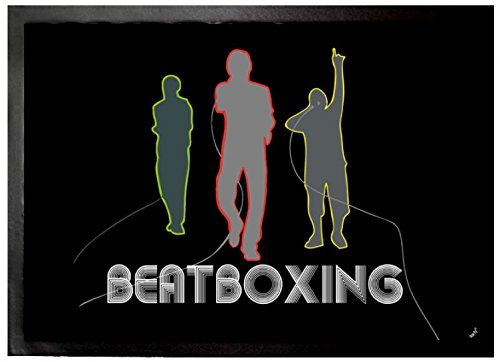 Felpudos Música Band, Beatboxing Felpudo Alfombrilla (70 x 50cm)