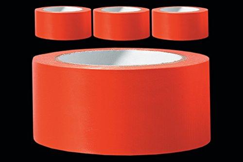3 x PVC Schutzband glatt 50 mm PROFI Putzerband 33 m orange Putzband Bautenschutzband Putzer Klebeband Putz Abdeckband