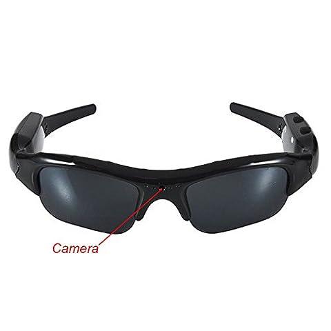 Mengshen Pinhole Hidden Video Recorder DVR Mini DV Sunglasses Camera Hidden DVR HD Camera w/ Micro SD Slot Expandable to 16gb