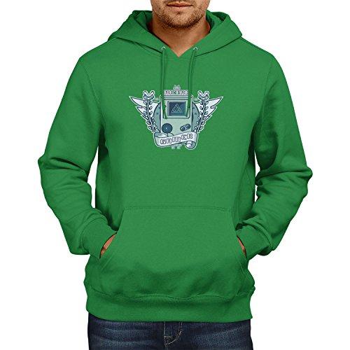 NERDO - Retro Gamer Logo - Herren Kapuzenpullover, Größe XL, grün