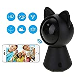 Hangang Kamera IP WiFi HD 1080P Kamera Wireless CCTV Wlan häusliche Sicherheit Bewegungserkennung Mini Cat A 360 Grad Panorama bidirektional