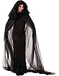 40789e772a Disfraz Bruja LaLaAreal Disfraces de Adulto y Niña para Halloween y  Carnaval con…