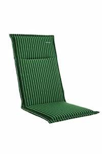 Kettler 0309201-8710 Coussin pour chaise pliante 121 x 50 x 6 cm (Vert rayé) (Import Allemagne)