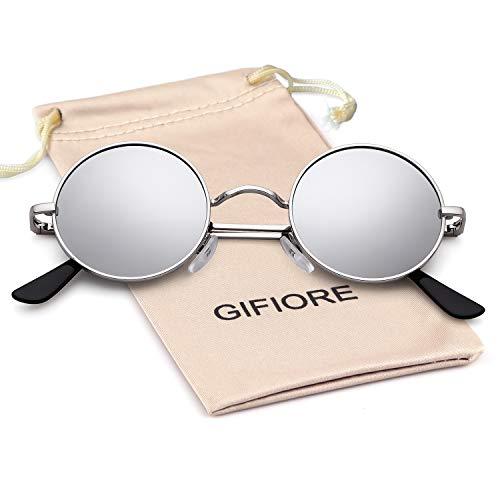 John Lennon Glasses Round Polarised Sunglasses Hippie Glasses for Women Men