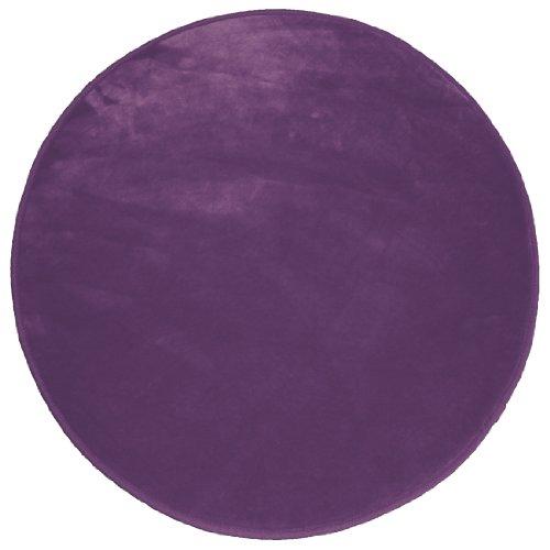 Douceur d'Intérieur - Tapis Velour Louna - Prune - 90 cm