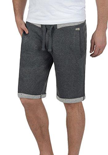 BLEND Sonny Herren Sweat-Shorts kurze Hose Sport-Shorts aus hochwertiger Baumwollmischung Charcoal (70818)