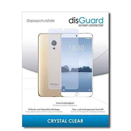 disGuard® Displayschutzfolie [Crystal Clear] kompatibel mit Meizu M15 [4 Stück] Kristallklar, Transparent, Unsichtbar, Extrem Kratzfest, Anti-Fingerabdruck - Panzerglas Folie, Schutzfolie