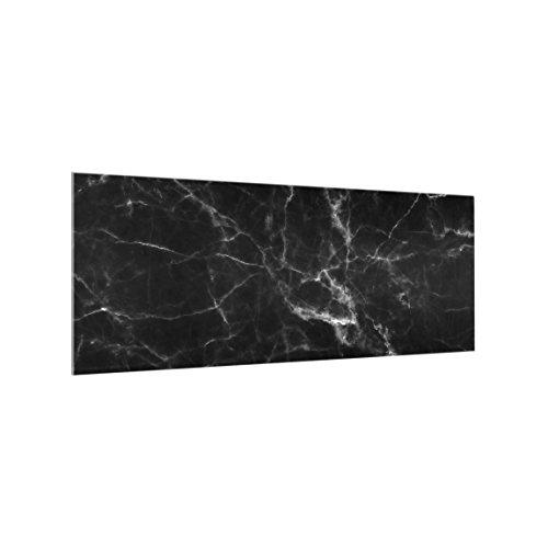 Bilderwelten Spritzschutz-Glas Marmor-Optik 40 x 100 cm schwarz Küchenrückwand