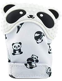 Niño Silicona Dentición Manopla Bebé Guantes Molares Panda Patrón Bebé Molar Guantes Muela el Diente Mitón