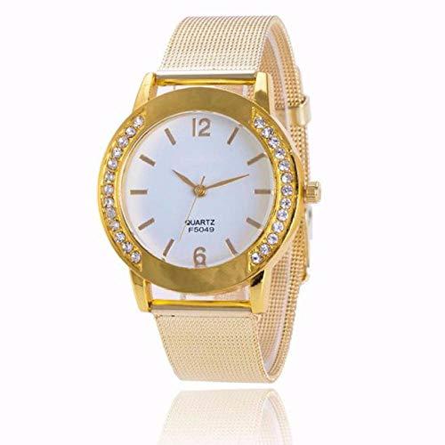 Uhren Uhr Frauen Kristall Golden Edelstahl Armband Analog Quarz Armbanduhr Kleid Uhr Relogio Feminino
