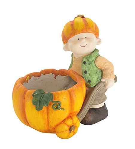 (DARO DEKO Keramik Pflanz-Figur Junge mit Kürbis)