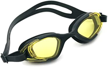 Viva Sports Viva-130 Swimming Goggles (Black/Yellow)