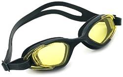 Viva Sports Viva-130 Swimming Goggles (Black, Yellow)