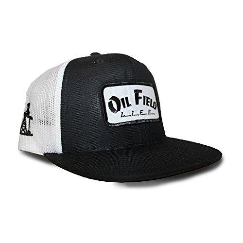 innovative design 3db21 65e07 Oil Field Hats Black White Oil Field Life Patch Cap - FT1814