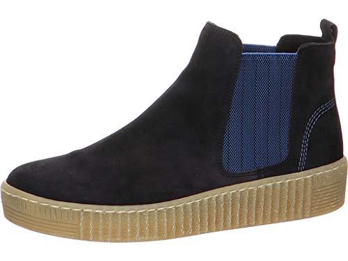 Boots 33.731, Frauen Stiefelette/Röhrli,Stiefel,Halbstiefel,Bootie,Schlupfstiefel,flach,Pazifik/blau(Natur,38 EU / 5 UK ()