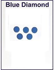 5x 10mm Embouts en cuir Pointe Snooker queue de billard Bleu diamant
