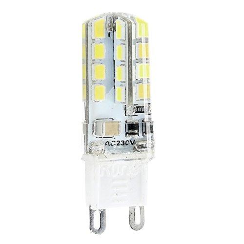 hgfter 230V G9 LED-Birne 32LEDs 2835SMD kühles Weiß Silikon-Kristall-Licht-Lampe 1pc -