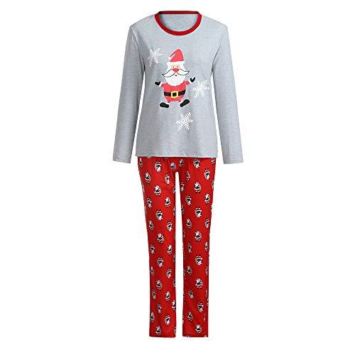 Yesmile Familien Outfit Weihnachten Damen Schlafanzug Pyjama Set Für Familien Lang Nachthemd Nachtwäsche Hausanzug Mama& Papa Outfit
