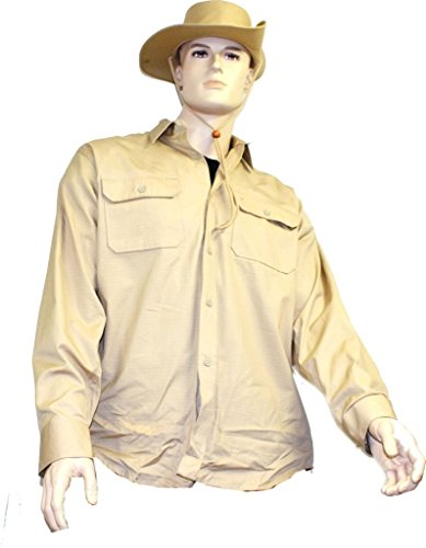 Mil-Tec Herren Army Deserthemd Tropenhemd Baumwolle Safarihemd, Khaki, (Kostüme 2017 Herren Einfach)