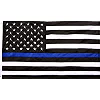 Thin Blue Line American Flag - 3 by 5 Foot Flag with Grommets