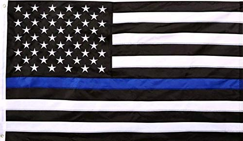 blau Line USA Stars and Stripes Nylon Polyester Flagge 3'x5' Banner Tüllen Gesetzeshüter ()