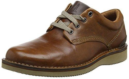 Rockport Prestige Point Plain Toe, Chaussures à Lacets Homme Marron - Brown (Tan 2)