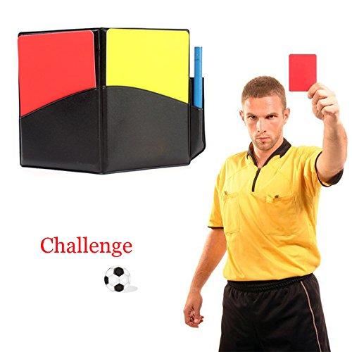 Características:  Duraderas, ligeras y fáciles de transportar. Cartera para árbitro con tarjeta roja y tarjeta amarilla. A todos los árbitros les gusta usar este juego en los partidos. El paquete también es adecuado para árbitros de otros deportes. C...