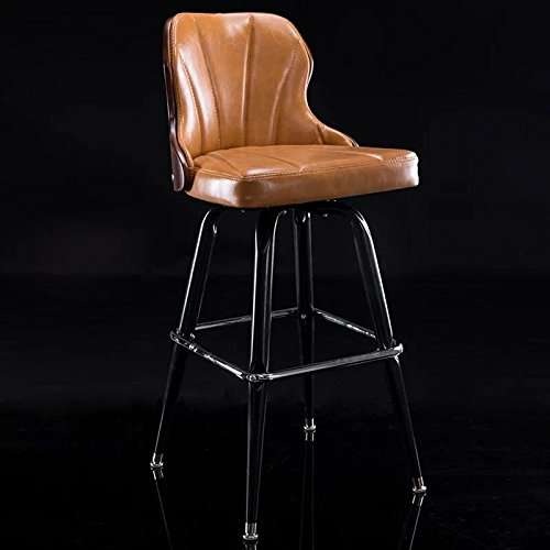 ASL Bar Stuhl, Kreativ Massivholz Lift Stuhl Bar Stuhl Europäische Stil Bar Stuhl Checkout Zähler Eisen Hocker High Hocker drehen Sessel 44 * 92cm E -