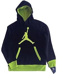 Nike Jordan Big Boys  Jumpman Logo Pullover in Pile con Cappuccio 3249af7bcb9f
