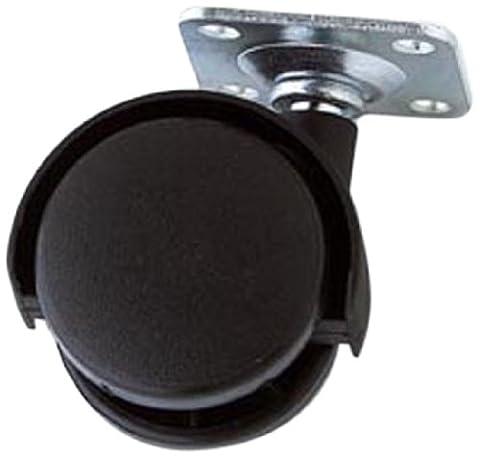Bulk Hardware BH01564 Twin Nylon Wheel Castors Casters, Plate Fix, 40mm (1.1/2 inch) - Pack of 4