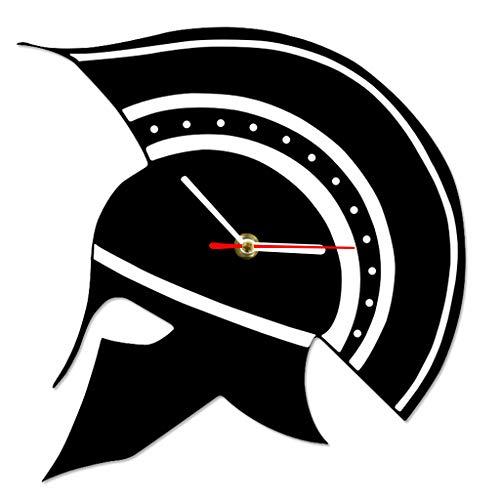 ,Uhren,Wecker Sparta Griechischen Helm Silhouette Griechenland Gladiator Krieger Helm Ative Watch Altgriechisch Kann Gut Dekorieren Home Office Kaffee Bar Hotel ()