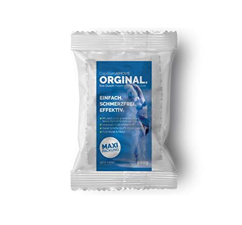 Capillum AMOVE Orginal 500g Sparpackung - Schmerzfreies Dusch Haarentfernungscreme Pulver für Mann & Frau ohne Zusätze