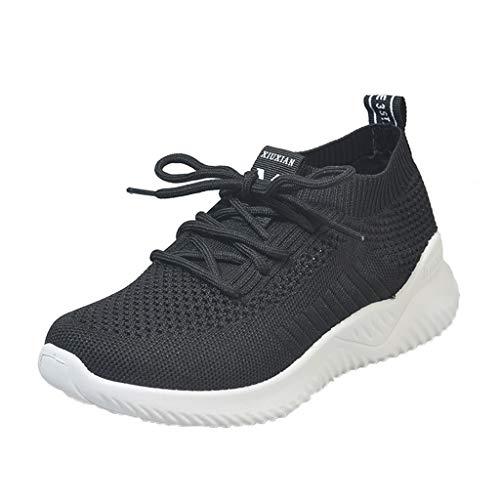 Damen Art- und Weisefrauen-Sportschuhe Sneaker-Ineinander greifen, Das Athletische Lace-Up Beiläufige Atmungsaktive Sportschuhe-Laufen Lässt Laufschuhe-Joggingschuhe Outdoor URIBAKY