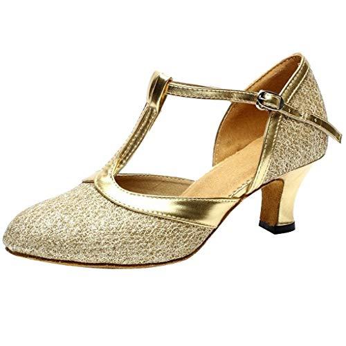 Zapatos de Baile Latino Mujer Salsa Tacon de 5 Cm Salón de Baile para Mujeres Zapatos De Tango Sandalias...