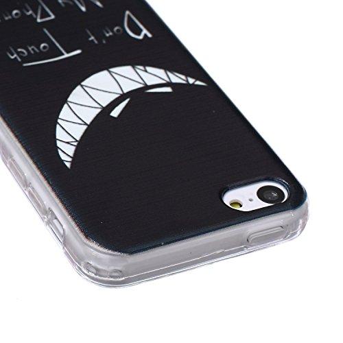 Meet de pour Apple iphone 5C Ultra Slim Flexible Transparent Soft Case / Housse / Portefeuille / Cover Étui / Housse étui - arbre blanc Don't touch my phone